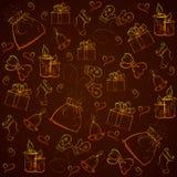 Nahtloses goldenes Muster Weihnachten Stockfoto