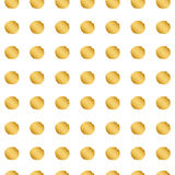 Nahtloses Goldpunktmuster Stockbild