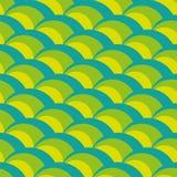 Nahtloses grüne Wellen-Muster Lizenzfreie Stockfotos