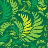 Nahtloses grünes Blumenmuster Stockfotografie