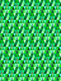 Nahtloses grünes dreieckiges Vektormuster/-hintergrund Stockbild