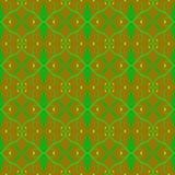 Nahtloses grünes, gelbes und braunes Tarnungsmuster Stockfotografie