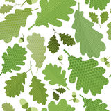 Nahtloses grünes Laub Stockfoto