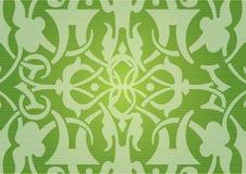 Nahtloses grünes Muster Lizenzfreies Stockbild