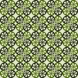 Nahtloses grünes Muster des Vektors lizenzfreie abbildung