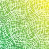 Nahtloses grünes Nettomuster mit Linien Abstrakte einfarbige Welle Lizenzfreies Stockfoto