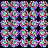 Nahtloses grafisches Muster farbige Rotationen. Lizenzfreie Stockbilder