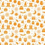 Nahtloses Halloween-Muster Lizenzfreie Stockfotos