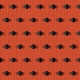 Nahtloses Halloween-Muster mit Spinnen über Rot Stockfoto