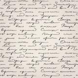 Nahtloses handgeschriebenes Textmuster Stockbilder