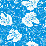 Nahtloses hawaiisches Blumenmuster Stockfotos
