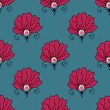 Nahtloses helles Blumenmuster lizenzfreie abbildung