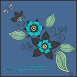 Nahtloses helles Blumenmuster Abbildung Stockfotografie