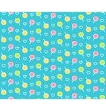 Nahtloses helles kindisches abstraktes Muster mit Lutscher Stockfotos