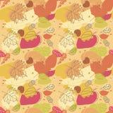 Nahtloses Herbst-Muster Stockfotografie