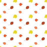 Nahtloses Herbstblatmuster Stockfotografie