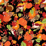 Nahtloses Herbstmuster Stockbild