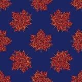 Nahtloses Herbstmuster des Vektors, Ahornblatthintergrund stock abbildung