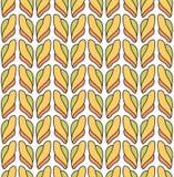 Nahtloses Herbstmuster mit stilisierten Borten stock abbildung