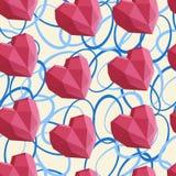 Nahtloses Herz-Muster stockbild