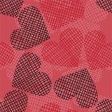 Nahtloses Herzmuster auf Papierbeschaffenheit. Stockbild
