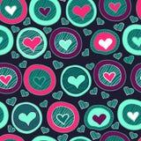 Nahtloses Herzmuster für Valentinstag Lizenzfreies Stockbild