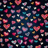 Nahtloses Herzmuster für Valentinstag Stockbilder