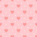 Nahtloses Herzmuster, Illustration stock abbildung