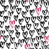 Nahtloses Herzzusammenfassungsmuster Stockbild