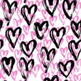 Nahtloses Herzzusammenfassungsmuster Lizenzfreies Stockbild