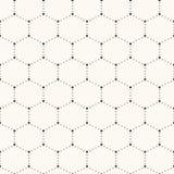Nahtloses Hexagonmuster. Stockfotos