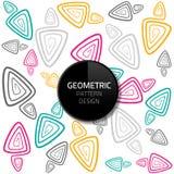Nahtloses Hintergrunddesign ENV 10 des modernen abstrakten geometrischen Musterschablonenvektors Lizenzfreies Stockbild