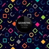 Nahtloses Hintergrunddesign ENV 10 des modernen abstrakten geometrischen Musterschablonenvektors Stockfotos