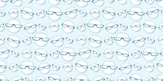 Nahtloses Hintergrundmuster der männlichen Gläser Stockfoto