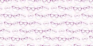 Nahtloses Hintergrundmuster der weiblichen Gläser Lizenzfreies Stockbild
