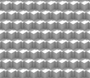 Nahtloses Hintergrundmuster der Zusammenfassung 3d gemacht von einer Reihe vielschichtigen Würfeln in den Schatten von Weiß Stockbild