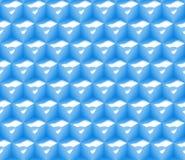 Nahtloses Hintergrundmuster der Zusammenfassung 3d gemacht von einer Reihe Würfeln mit Grübchen in Blauem und in weißem Stockbilder