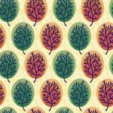 Nahtloses Hintergrundmuster des Baums Stockbilder
