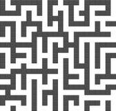 Nahtloses Hintergrundmuster des endlosen Labyrinths Stockfoto