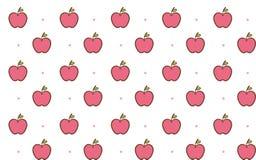 Nahtloses Hintergrundmuster des netten Apfels Stockfoto
