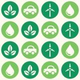 Nahtloses Hintergrundmuster des Retro- eco Grüns lizenzfreie abbildung