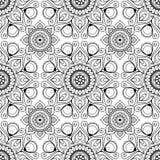 Nahtloses Hintergrundmuster mit mehndi Hennastrauchspitze buta Dekorationselementen in der indischen Art Lizenzfreie Stockbilder