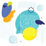 Nahtloses Hintergrundmuster mit Zitronen Skandinavierart Stockbilder