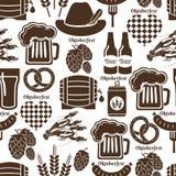 Nahtloses Hintergrundmuster Oktoberfest Stockbild