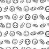 Nahtloses horizontales einfarbiges Muster mit a Lizenzfreie Stockfotos