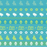 Nahtloses horizontales Muster Ostern - grüne Farbe Lizenzfreie Stockfotografie
