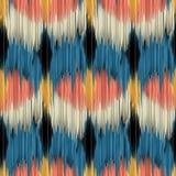 Nahtloses ikat Muster Stockbilder