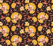 Nahtloses indisches Artmuster des hellen Vektors Stockbild