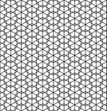 Nahtloses japanisches Muster Shoji kumiko in Schwarzweiss lizenzfreie abbildung