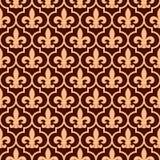 Nahtloses königliches Muster Stockbild